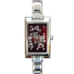 Patterns Bright Background  Rectangle Italian Charm Watch
