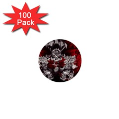 Patterns Bright Background  1  Mini Buttons (100 Pack)