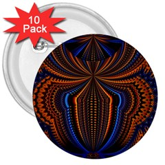 Patterns Light Dark 3  Buttons (10 Pack)