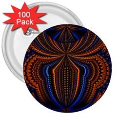 Patterns Light Dark 3  Buttons (100 Pack)