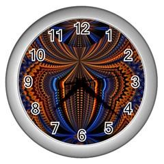 Patterns Light Dark Wall Clocks (silver)