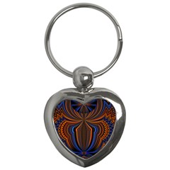 Patterns Light Dark Key Chains (heart)