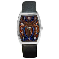Patterns Light Dark Barrel Style Metal Watch