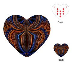 Patterns Light Dark Playing Cards (heart)