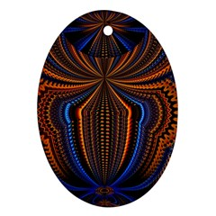 Patterns Light Dark Oval Ornament (two Sides)