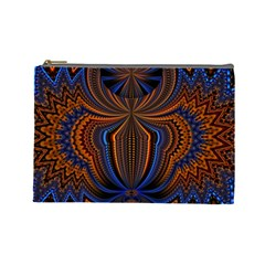Patterns Light Dark Cosmetic Bag (large)
