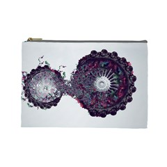 Circles Background Bright  Cosmetic Bag (large)