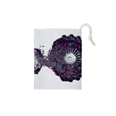 Circles Background Bright  Drawstring Pouches (xs)