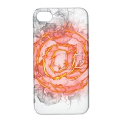Symbol Fire Flame  Apple Iphone 4/4s Hardshell Case With Stand