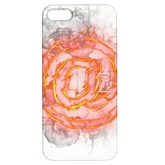 Symbol Fire Flame  Apple Iphone 5 Hardshell Case With Stand