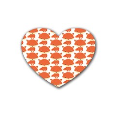Cute Little Fox Pattern Rubber Coaster (heart)