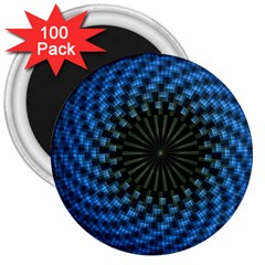Patterns Circles Rays  3  Magnets (100 Pack)
