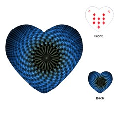 Patterns Circles Rays  Playing Cards (heart)