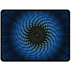 Patterns Circles Rays  Fleece Blanket (large)