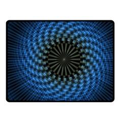 Patterns Circles Rays  Fleece Blanket (small)