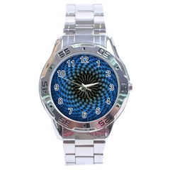 Patterns Circles Rays  Stainless Steel Analogue Watch