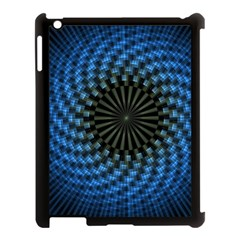 Patterns Circles Rays  Apple Ipad 3/4 Case (black)