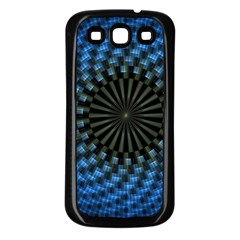 Patterns Circles Rays  Samsung Galaxy S3 Back Case (black)