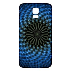 Patterns Circles Rays  Samsung Galaxy S5 Back Case (white)