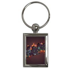 Abstraction Patterns Stripes  Key Chains (rectangle)