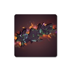 Abstraction Patterns Stripes  Square Magnet