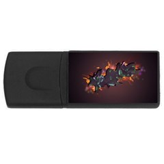 Abstraction Patterns Stripes  Rectangular Usb Flash Drive