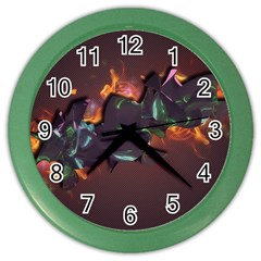 Abstraction Patterns Stripes  Color Wall Clocks