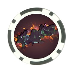 Abstraction Patterns Stripes  Poker Chip Card Guard (10 Pack)