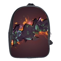 Abstraction Patterns Stripes  School Bag (large)