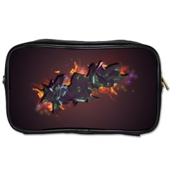 Abstraction Patterns Stripes  Toiletries Bags 2 Side