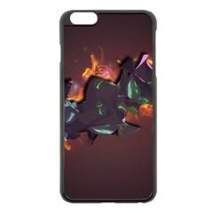 Abstraction Patterns Stripes  Apple Iphone 6 Plus/6s Plus Black Enamel Case