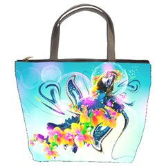 Parrot Abstraction Patterns Bucket Bags
