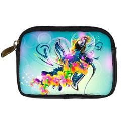 Parrot Abstraction Patterns Digital Camera Cases