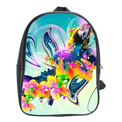Parrot Abstraction Patterns School Bag (large)