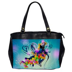 Parrot Abstraction Patterns Office Handbags