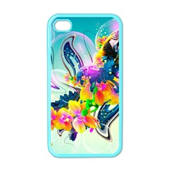 Parrot Abstraction Patterns Apple Iphone 4 Case (color)