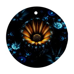 Fractal Flowers Abstract  Ornament (round)