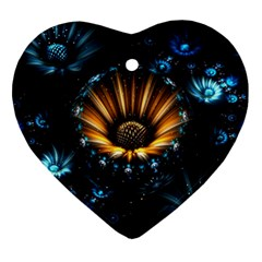 Fractal Flowers Abstract  Ornament (heart)