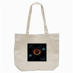 Fractal Flowers Abstract  Tote Bag (cream)