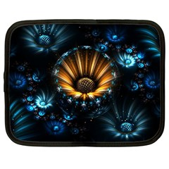 Fractal Flowers Abstract  Netbook Case (large)