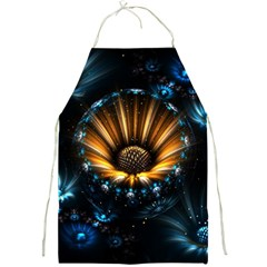 Fractal Flowers Abstract  Full Print Aprons