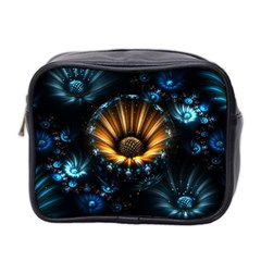 Fractal Flowers Abstract  Mini Toiletries Bag 2 Side