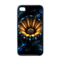 Fractal Flowers Abstract  Apple Iphone 4 Case (black)