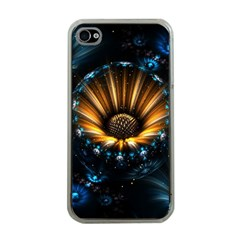 Fractal Flowers Abstract  Apple Iphone 4 Case (clear)