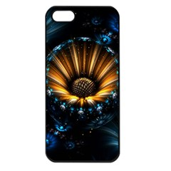 Fractal Flowers Abstract  Apple Iphone 5 Seamless Case (black)