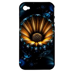 Fractal Flowers Abstract  Apple Iphone 4/4s Hardshell Case (pc+silicone)