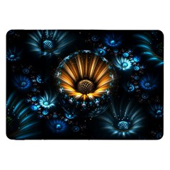 Fractal Flowers Abstract  Samsung Galaxy Tab 8 9  P7300 Flip Case