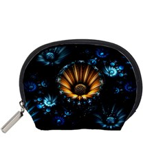 Fractal Flowers Abstract  Accessory Pouches (small)