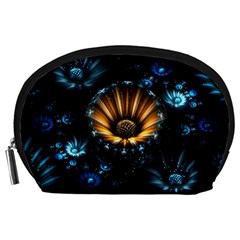 Fractal Flowers Abstract  Accessory Pouches (large)