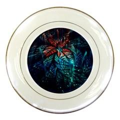 Fractal Flower Shiny  Porcelain Plates